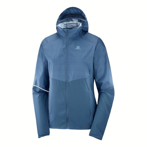Passion Sport & Aventure Magasin Sport Rennes AGILE WIND PRINT Hoodie.W Bleu 414