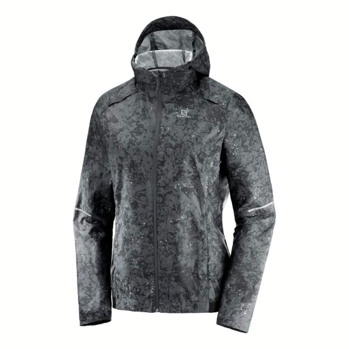 Passion Sport & Aventure Magasin Sport Rennes AGILE WIND PRINT Hoodie.W Gris 415