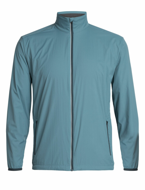 Passion Sport & Aventure Magasin Sport Rennes Incline Wind Man. LS ZIP. Blue Monsoon 156