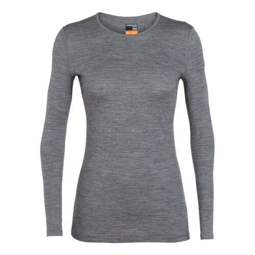 Passion Sport & Aventure Magasin Sport Rennes W OASIS.200 LS CREWE Gris 373